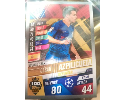 Match Attax 101 2019/2020 AZPILICUETA WORLD STAR 100