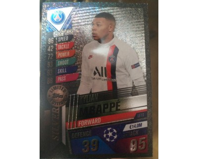 Match Attax 101 2019/2020 MBAPPE SILVER LIMITED EDITION