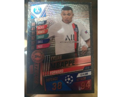 Match Attax 101 2019/2020 MBAPPE BRONZE LIMITED EDITION
