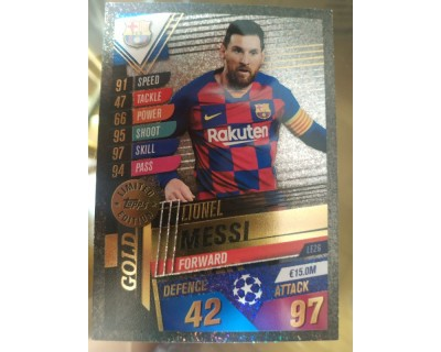 Match Attax 101 2019/2020 MESSI GOLD LIMITED EDITION