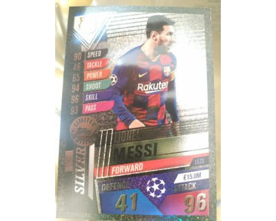Match Attax 101 2019/2020 MESSI SILVER LIMITED EDITION