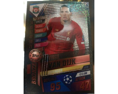 Match Attax 101 2019/2020 VAN DIJK BRONZE LIMITED EDITION
