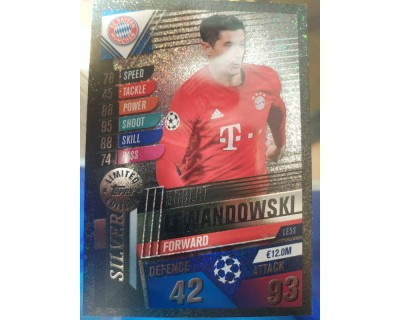 Match Attax 101 2019/2020 LEANDOWSKI SILVER LIMITED EDITION
