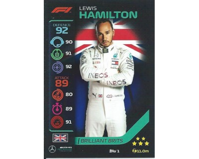 Turbo Attax LEWIS HAMILTON N 1