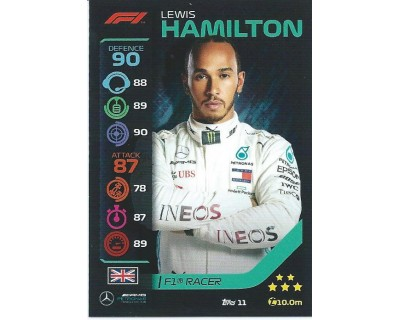 Turbo Attax LEWIS HAMILTON N 11