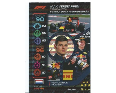 Turbo Attax MAX VERSTAPPEN N 144