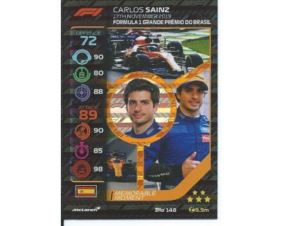 Turbo Attax CARLOS SAINZ N 148