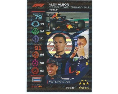 Turbo Attax ALEX ALBON N 149