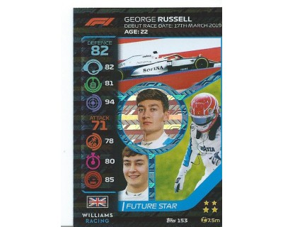 Turbo Attax GEORGE RUSSELL N 153