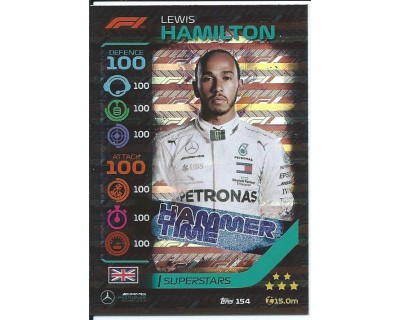 Turbo Attax LEWIS HAMILTON N 154