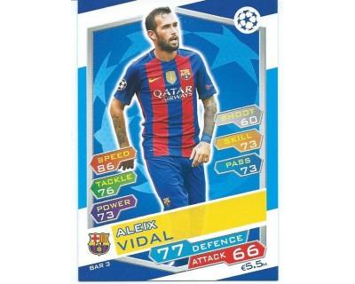 MATCH ATTAX U.C.LEAGUE 2016/2017 FC BARCELONA Nº 3