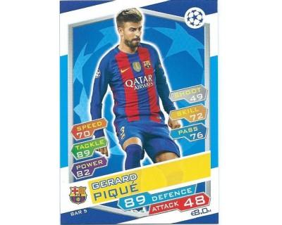 MATCH ATTAX U.C.LEAGUE 2016/2017 FC BARCELONA Nº 5