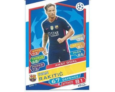 MATCH ATTAX U.C.LEAGUE 2016/2017 FC BARCELONA Nº 11 AWAY GOAL