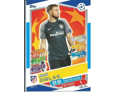 MATCH ATTAX U.C.LEAGUE 2016/2017 ATLETICO DE MADRID Nº 2