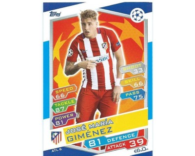 MATCH ATTAX U.C.LEAGUE 2016/2017 ATLETICO DE MADRID Nº 6