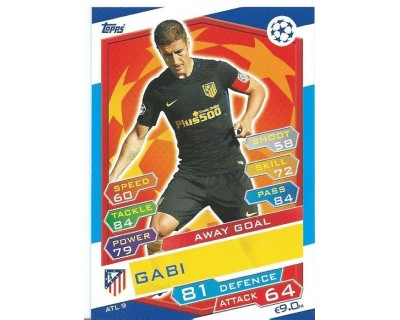 MATCH ATTAX U.C.LEAGUE 2016/2017 ATLETICO DE MADRID Nº 9 AWAY GOAL