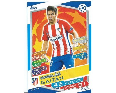 MATCH ATTAX U.C.LEAGUE 2016/2017 ATLETICO DE MADRID Nº 10