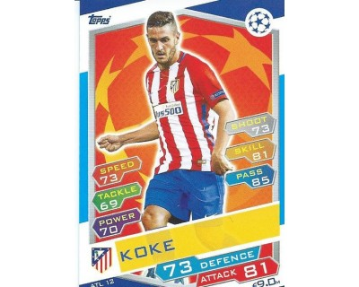 MATCH ATTAX U.C.LEAGUE 2016/2017 ATLETICO DE MADRID Nº 12
