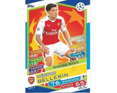 MATCH ATTAX U.C.LEAGUE 2016/2017 ARSENAL FC Nº 3 RISING STAR