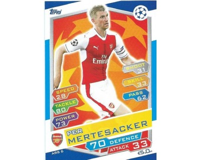 MATCH ATTAX U.C.LEAGUE 2016/2017 ARSENAL FC Nº 6