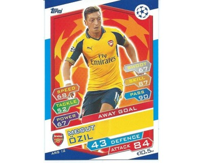 MATCH ATTAX U.C.LEAGUE 2016/2017 ARSENAL FC Nº 12 AWAY GOAL