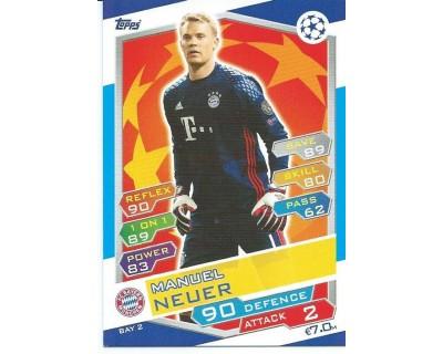 MATCH ATTAX U.C.LEAGUE 2016/2017 FC BAYERN MÜNCHEN Nº 2