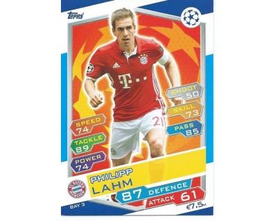 MATCH ATTAX U.C.LEAGUE 2016/2017 FC BAYERN MÜNCHEN Nº 3