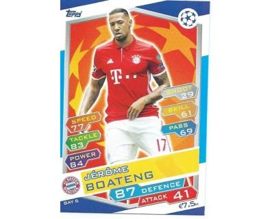 MATCH ATTAX U.C.LEAGUE 2016/2017 FC BAYERN MÜNCHEN Nº 6