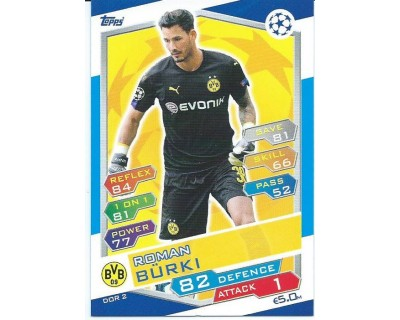MATCH ATTAX U.C.LEAGUE 2016/2017 BORUSSIA DORTMUND Nº 2