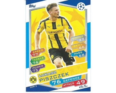 MATCH ATTAX U.C.LEAGUE 2016/2017 BORUSSIA DORTMUND Nº 3
