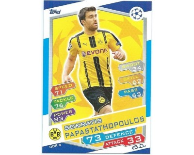 MATCH ATTAX U.C.LEAGUE 2016/2017 BORUSSIA DORTMUND Nº 5