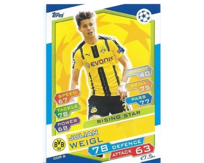MATCH ATTAX U.C.LEAGUE 2016/2017 BORUSSIA DORTMUND Nº 8 RISING STAR