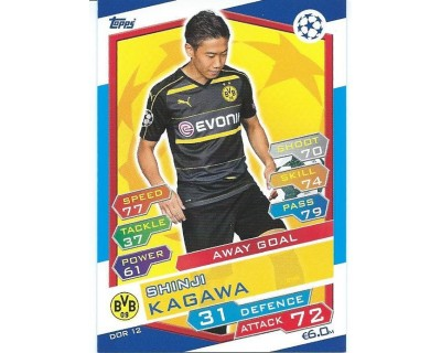 MATCH ATTAX U.C.LEAGUE 2016/2017 BORUSSIA DORTMUND Nº 12 AWAY GOAL