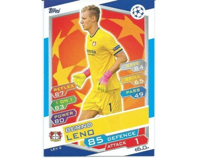 MATCH ATTAX U.C.LEAGUE 2016/2017 BAYER 04 LEVERKUSEN Nº 2