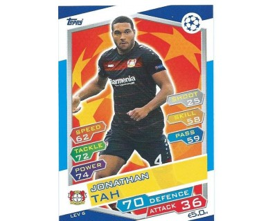 MATCH ATTAX U.C.LEAGUE 2016/2017 BAYER 04 LEVERKUSEN Nº 6