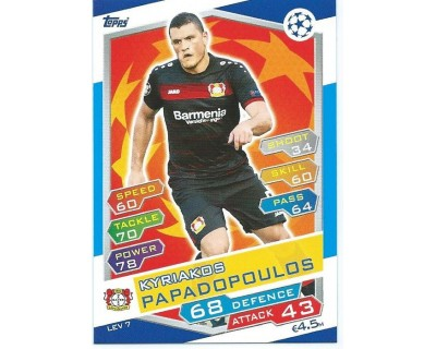 MATCH ATTAX U.C.LEAGUE 2016/2017 BAYER 04 LEVERKUSEN Nº 7