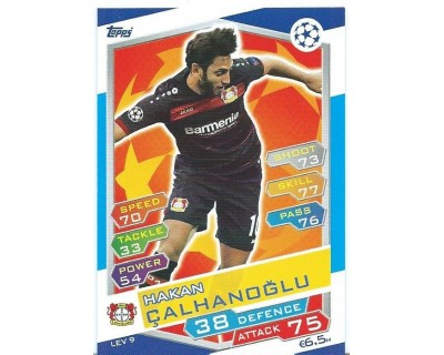 MATCH ATTAX U.C.LEAGUE 2016/2017 BAYER 04 LEVERKUSEN Nº 9