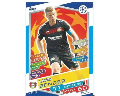 MATCH ATTAX U.C.LEAGUE 2016/2017 BAYER 04 LEVERKUSEN Nº 10