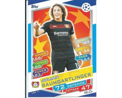 MATCH ATTAX U.C.LEAGUE 2016/2017 BAYER 04 LEVERKUSEN Nº 11