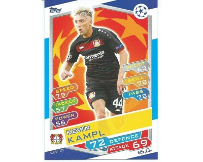 MATCH ATTAX U.C.LEAGUE 2016/2017 BAYER 04 LEVERKUSEN Nº 12