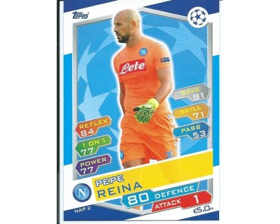 MATCH ATTAX U.C.LEAGUE 2016/2017 SSC NAPOLI Nº 2