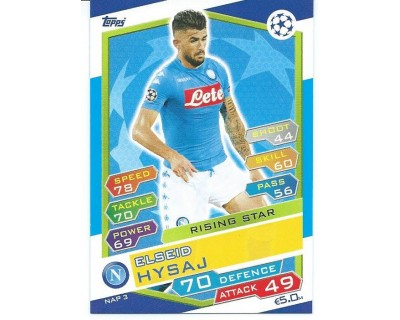 MATCH ATTAX U.C.LEAGUE 2016/2017 SSC NAPOLI Nº 3 RISING