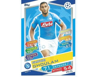 MATCH ATTAX U.C.LEAGUE 2016/2017 SSC NAPOLI Nº 4