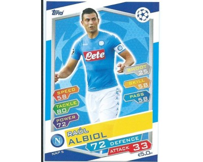 MATCH ATTAX U.C.LEAGUE 2016/2017 SSC NAPOLI Nº 5