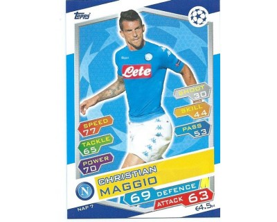 MATCH ATTAX U.C.LEAGUE 2016/2017 SSC NAPOLI Nº 7