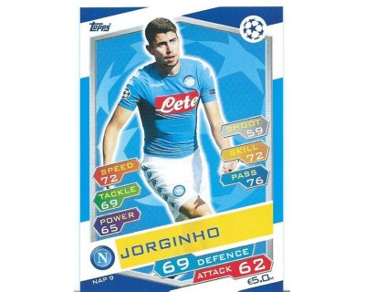MATCH ATTAX U.C.LEAGUE 2016/2017 SSC NAPOLI Nº 9