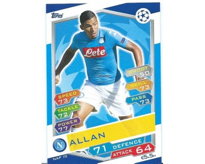 MATCH ATTAX U.C.LEAGUE 2016/2017 SSC NAPOLI Nº 10
