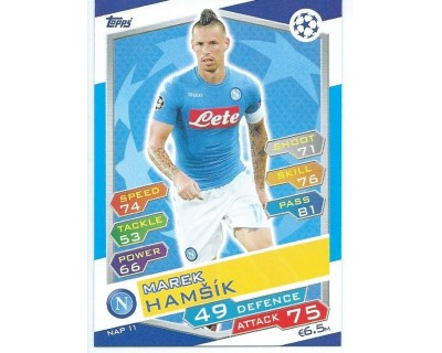 MATCH ATTAX U.C.LEAGUE 2016/2017 SSC NAPOLI Nº 11