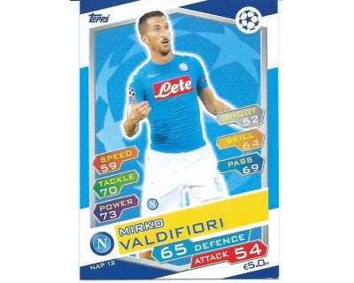 MATCH ATTAX U.C.LEAGUE 2016/2017 SSC NAPOLI Nº 12