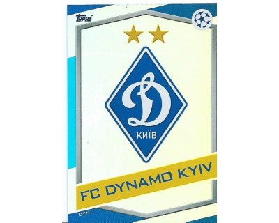 MATCH ATTAX U.C.LEAGUE 2016/2017 FC DYNAMO KYIV Nº 1 ESCUDO